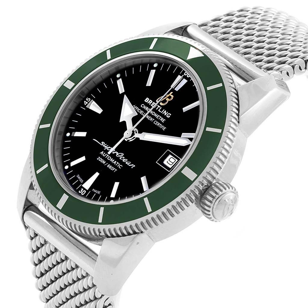 19594 Breitling Superocean Heritage 42 Green Bezel Mens Watch A17321 SwissWatchExpo