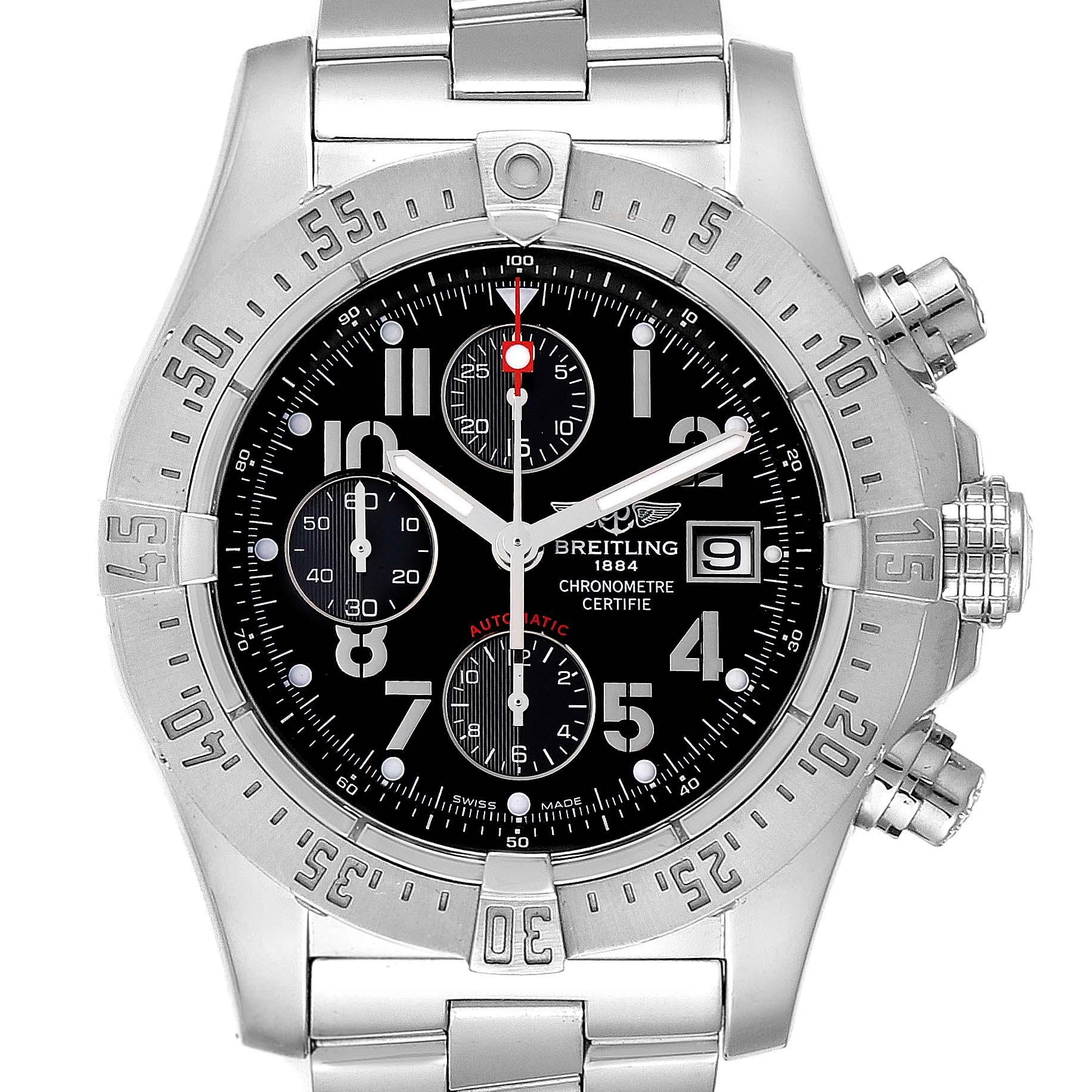 Breitling Aeromarine Avenger Skyland Black Dial Mens Watch A13380