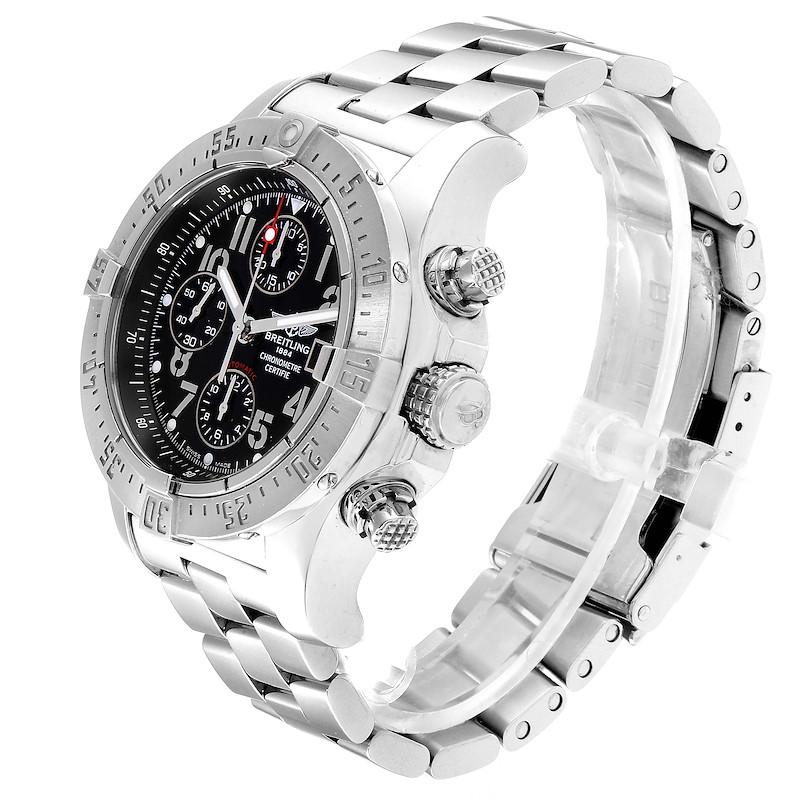 Breitling Aeromarine Avenger Skyland Black Dial Mens Watch A13380 SwissWatchExpo