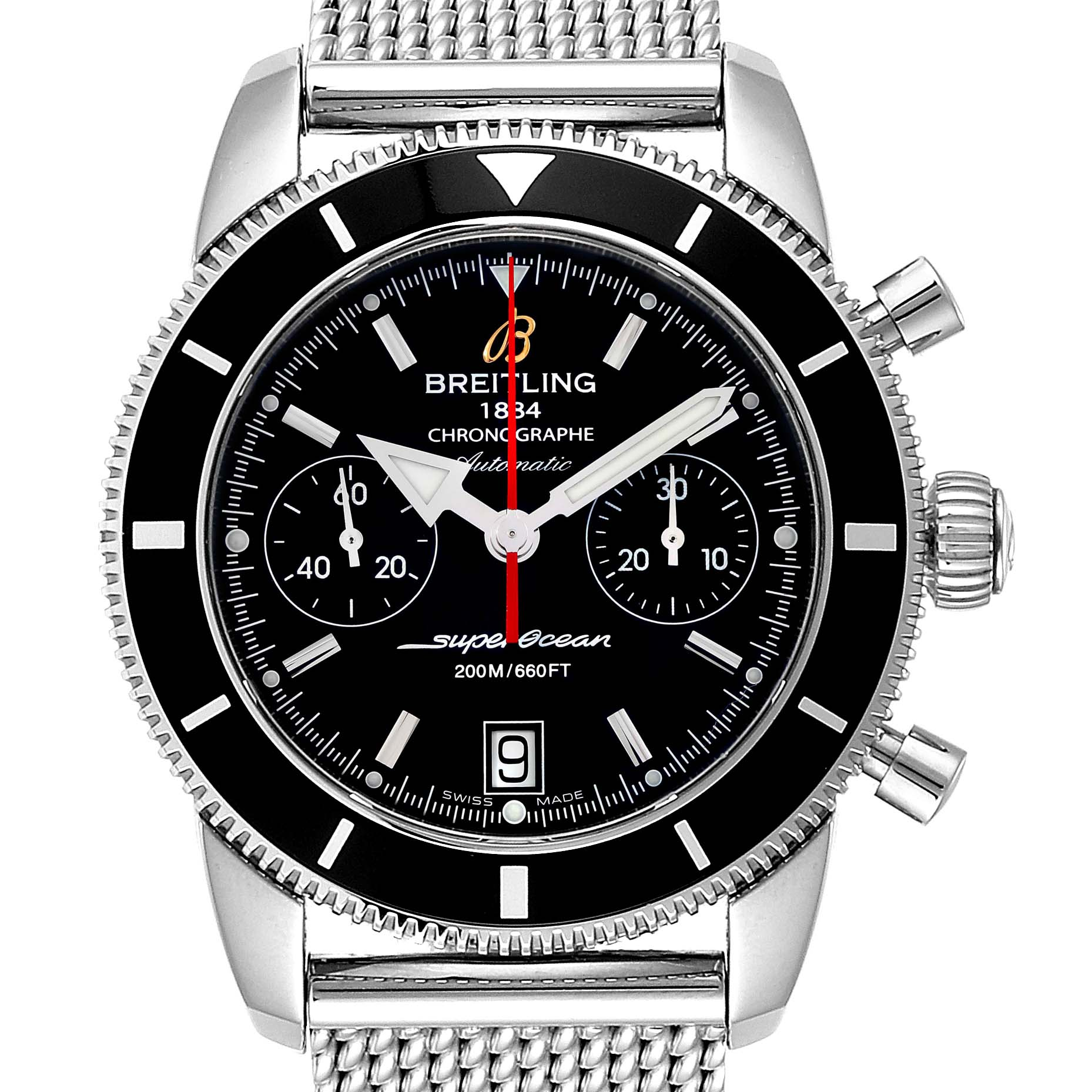 Breitling SuperOcean Heritage 44 Chrono Black Dial Watch A23370 SwissWatchExpo