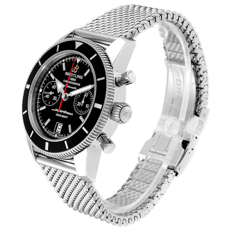 Breitling SuperOcean Heritage 44 Chrono Black Dial Watch A23370 SwissWatchExpo