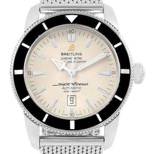 Photo of Breitling Superocean Heritage 46 Silver Dial Mesh Bracelet Watch A17320