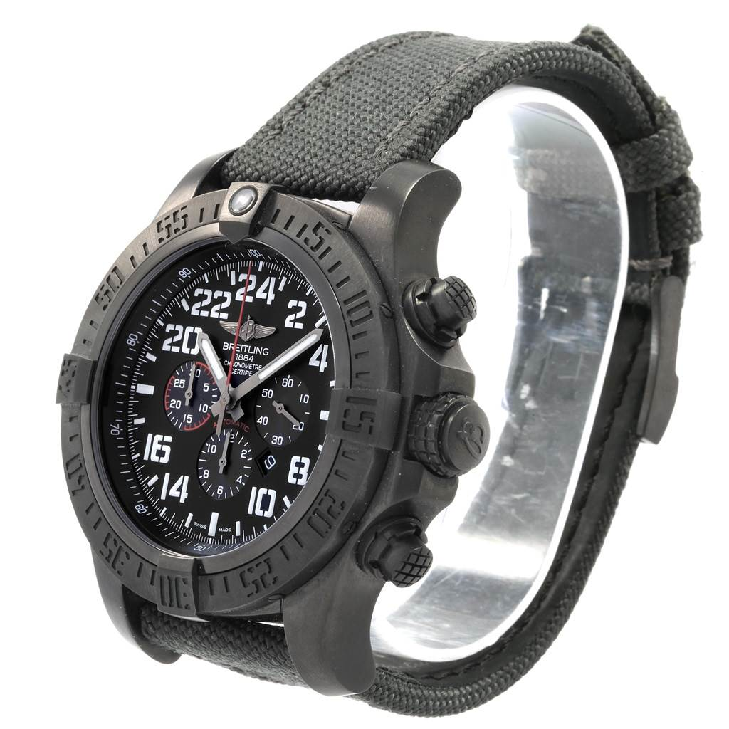 20005 Breitling Super Avenger Military Blacksteel LE Watch M22330 Box Papers SwissWatchExpo