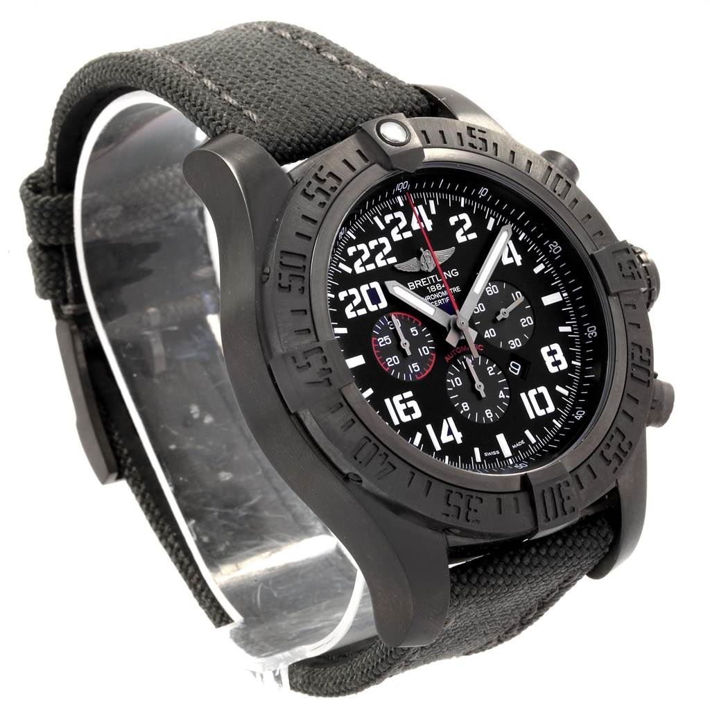 Breitling Super Avenger Military Blacksteel LE Watch M22330 Box Papers SwissWatchExpo