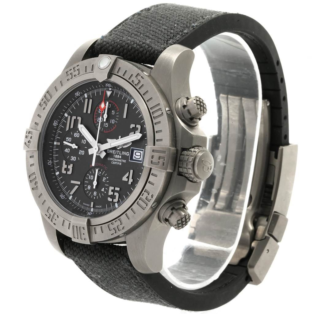 20000 Breitling Avenger Bandit Chronograph Titanium Watch E13383 Box Papers SwissWatchExpo