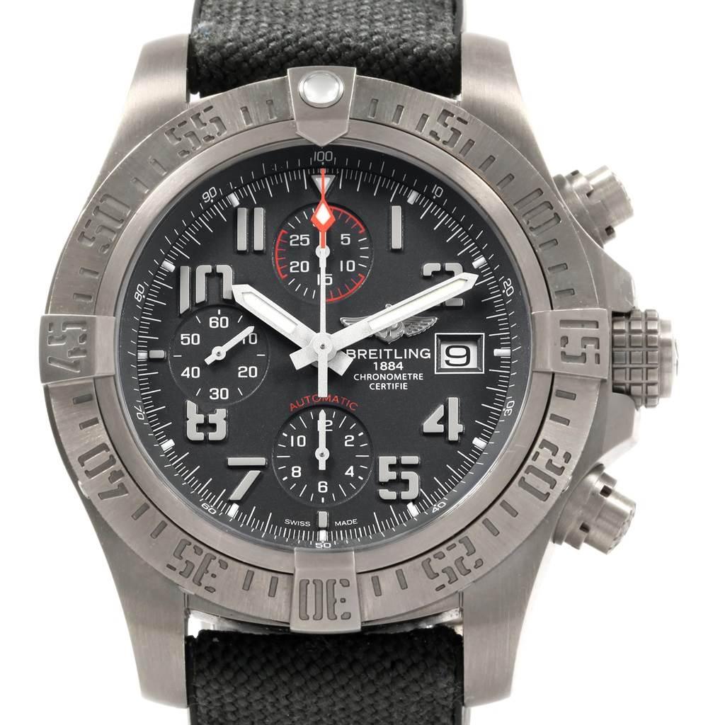 Breitling Avenger Bandit Chronograph Titanium Watch E13383 Box Papers SwissWatchExpo