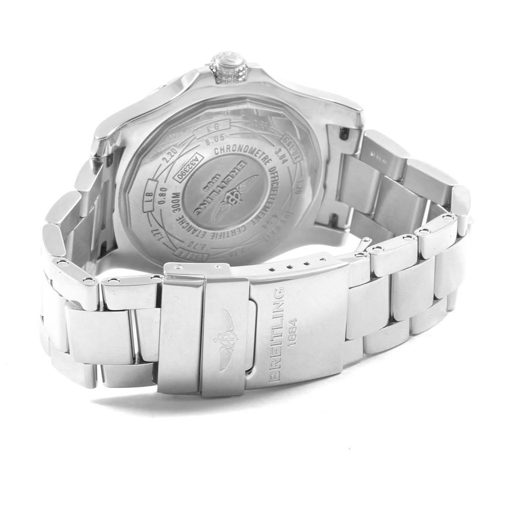 20017 Breitling Aeromarine Avenger II GMT Blue Dial Watch A32390 Box SwissWatchExpo