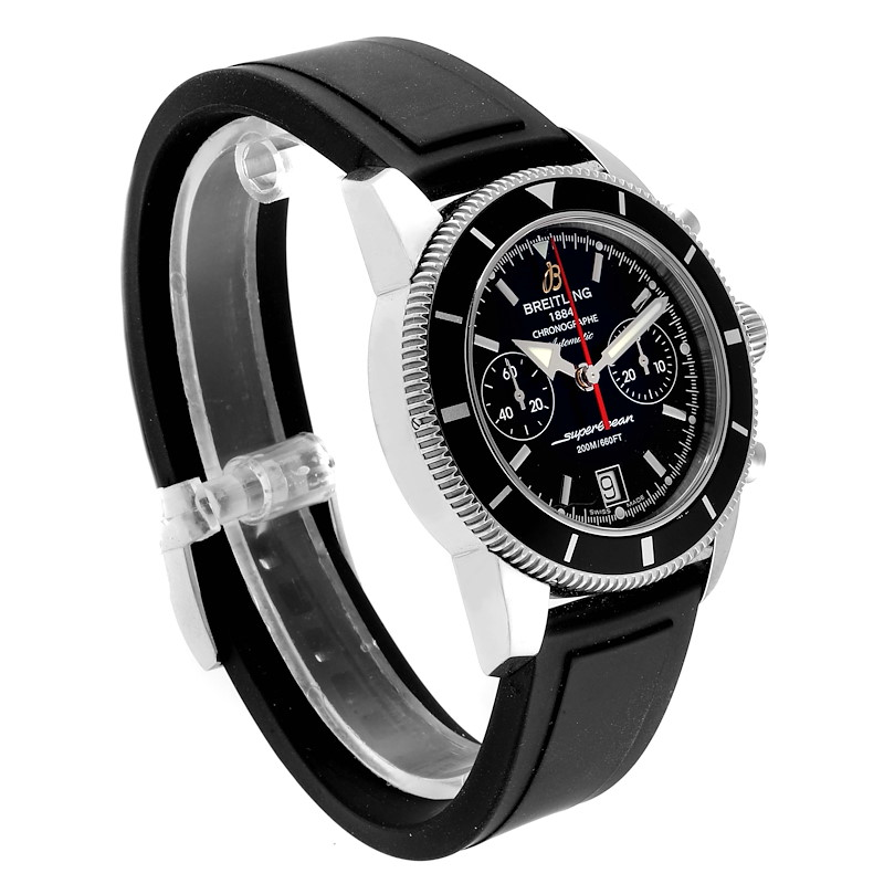 Breitling SuperOcean Heritage 44 Black Dial Rubber Strap Watch A23370 SwissWatchExpo