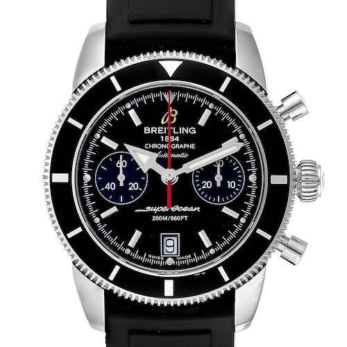 Photo of Breitling SuperOcean Heritage 44 Black Dial Rubber Strap Watch A23370
