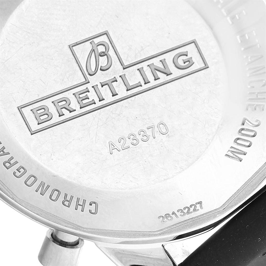 20132 Breitling SuperOcean Heritage 44 Black Dial Rubber Strap Watch A23370 SwissWatchExpo