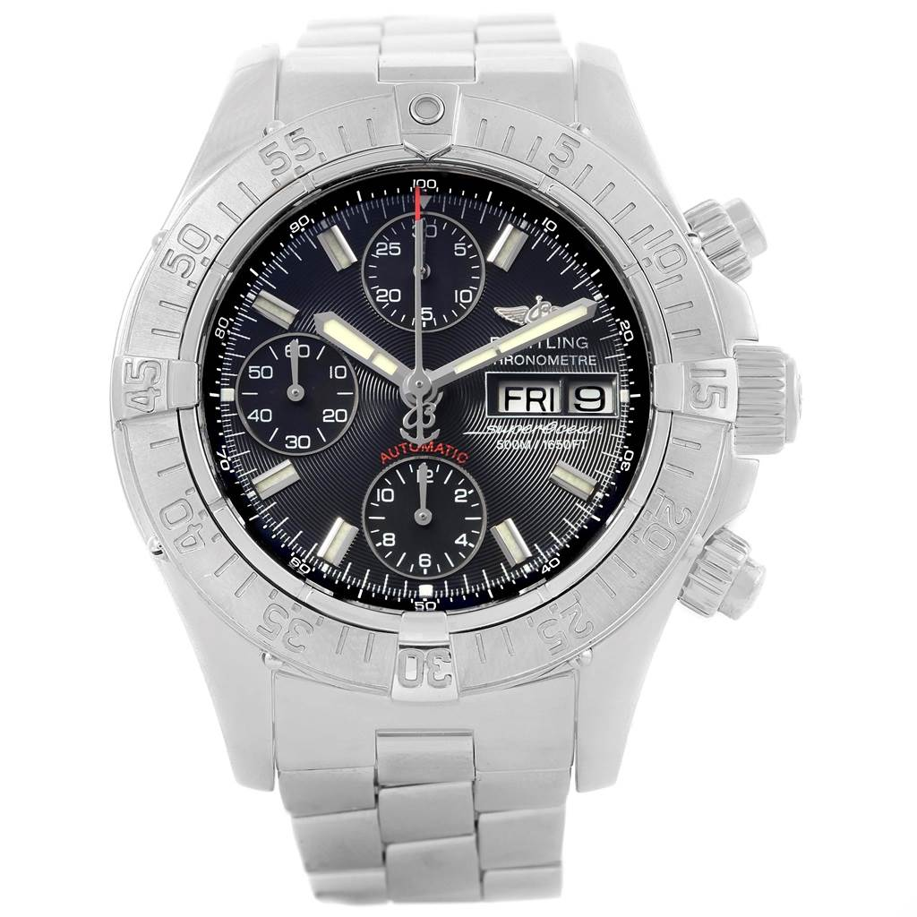 Breitling Aeromarine Superocean Black Dial Limited Edition Watch A13340 SwissWatchExpo