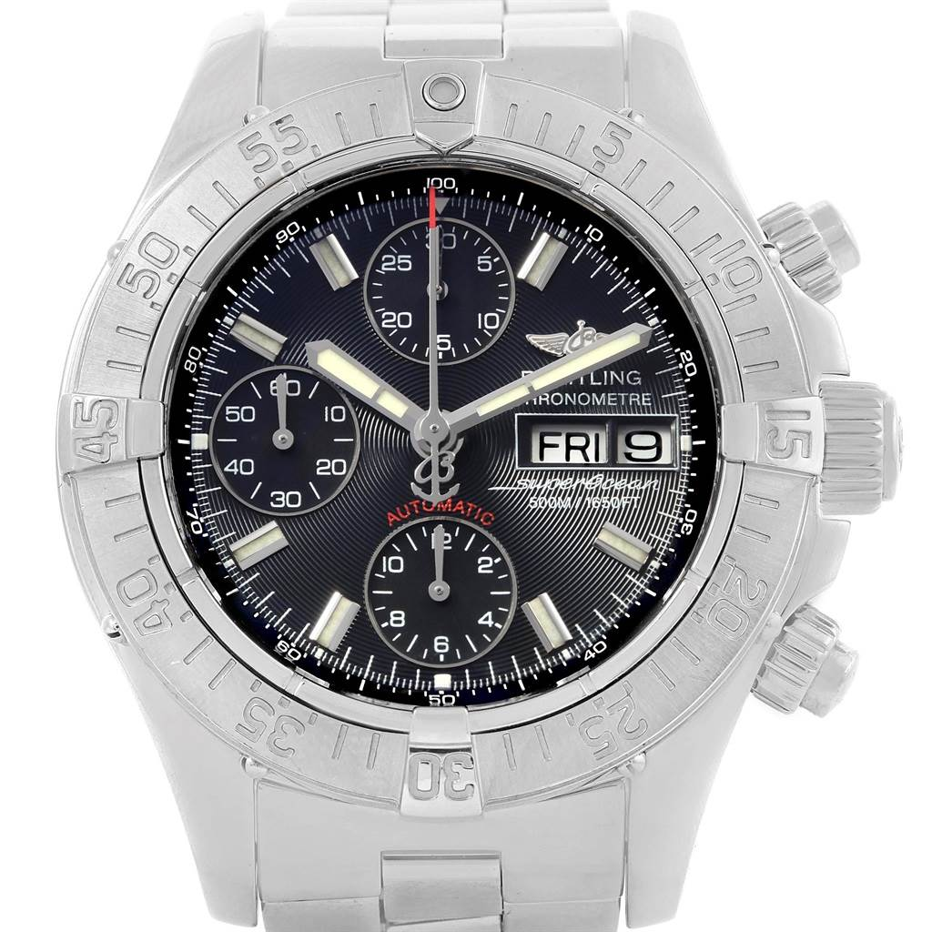 19866 Breitling Aeromarine Superocean Black Dial Limited Edition Watch A13340 SwissWatchExpo