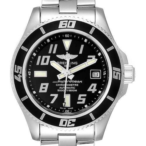 Breitling Superocean 42 Abyss Black Dial Steel Mens Watch A17364