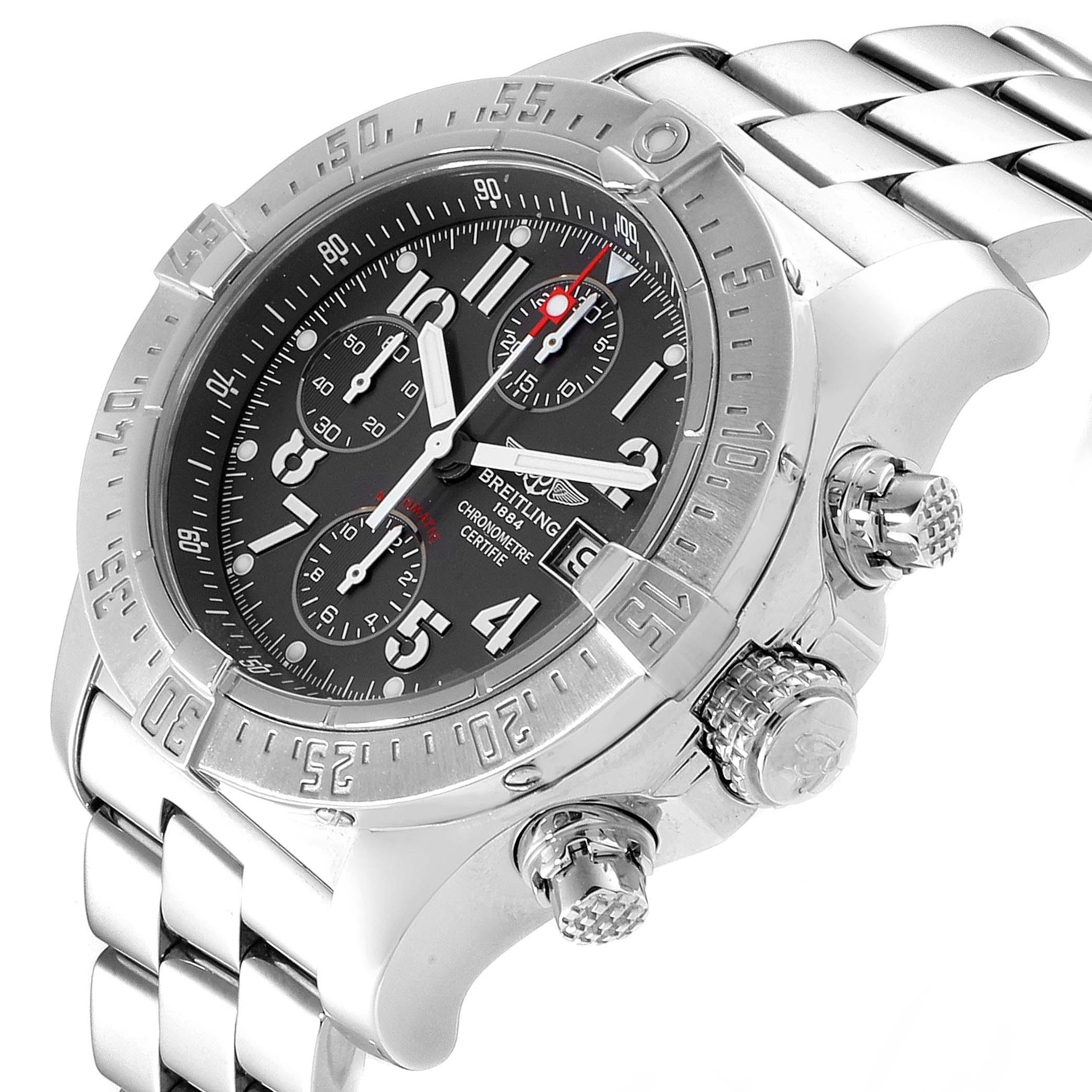 Breitling Aeromarine Avenger Skyland Grey Dial Mens Watch A13380 SwissWatchExpo