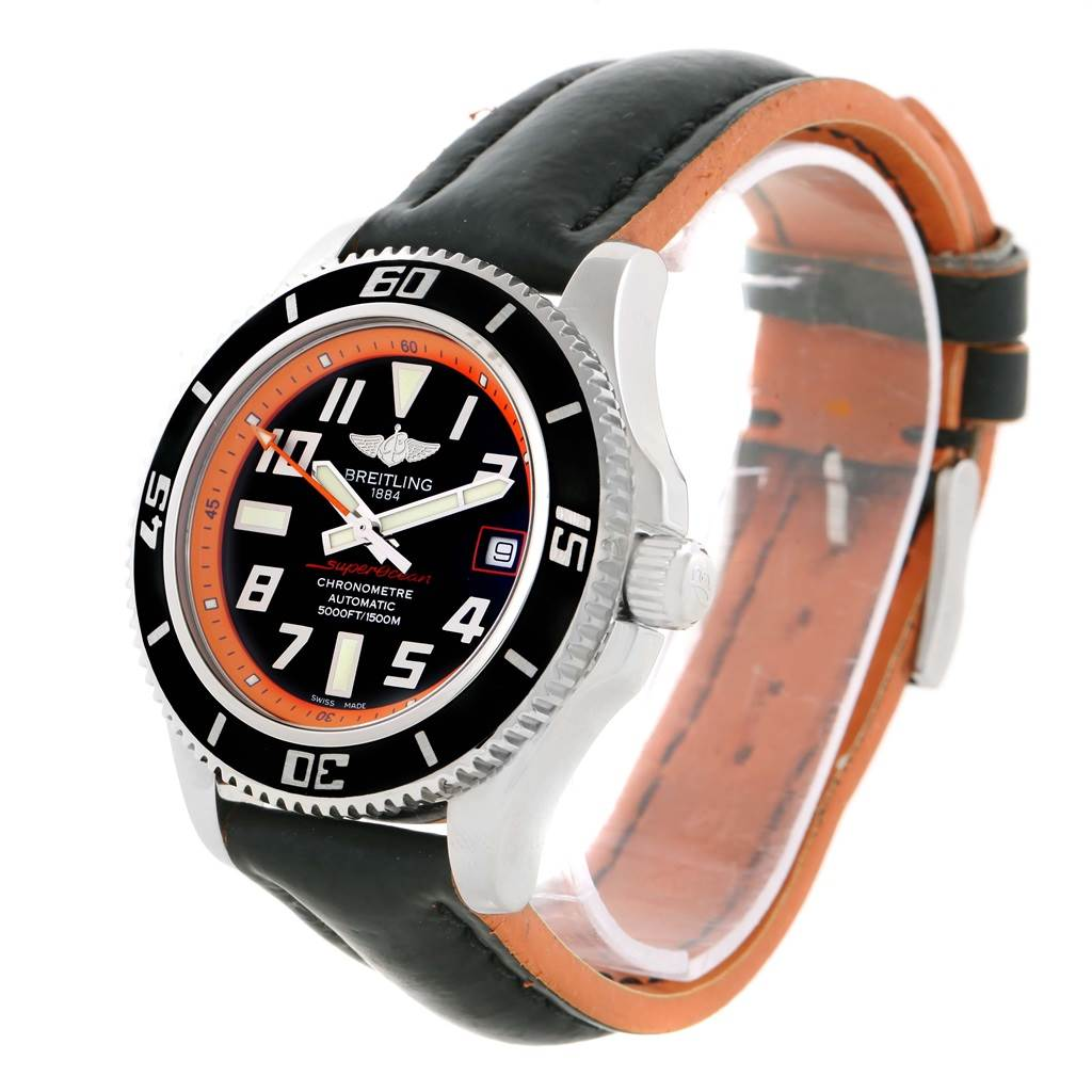 20261 Breitling Superocean 42 Abyss Orange Limited Edition Mens Watch A17364 SwissWatchExpo