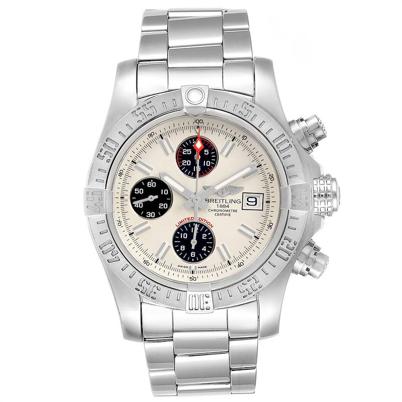 Breitling Avenger II Chronograph Mens Watch A13381 SwissWatchExpo