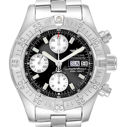 Photo of Breitling Aeromarine Superocean Black Dial Mens Watch A13340 Box