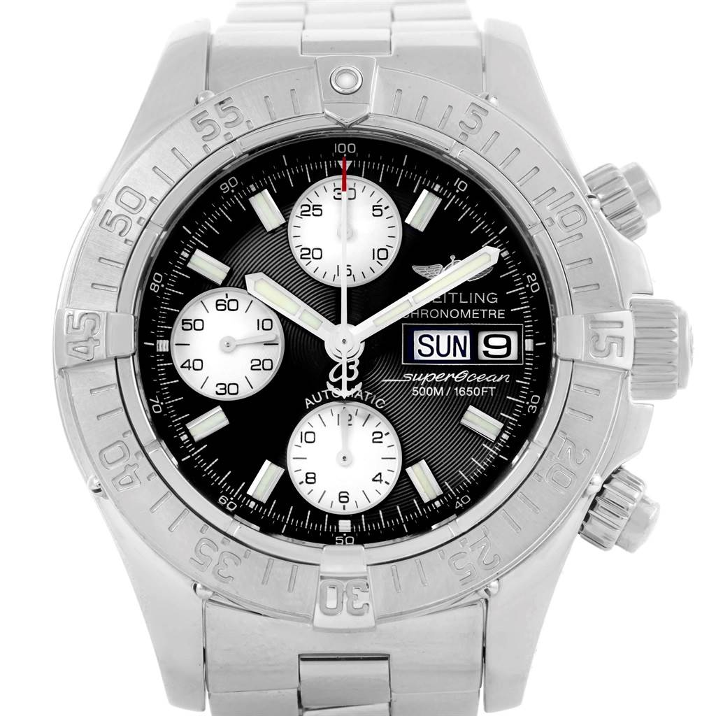 Breitling Aeromarine Superocean Chronograph Mens Watch A13340 SwissWatchExpo
