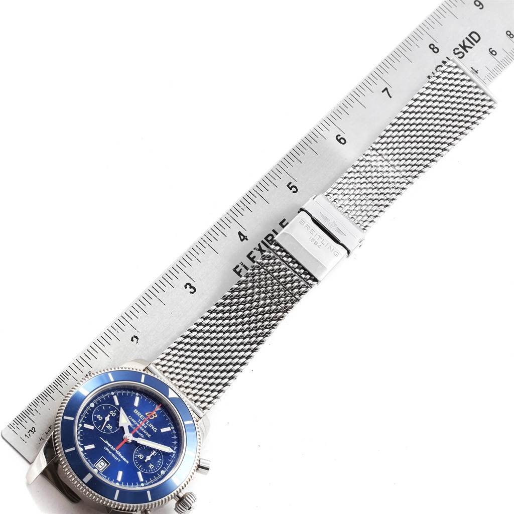 Breitling SuperOcean Heritage 44 Blue Dial Chronograph Watch A23370 SwissWatchExpo