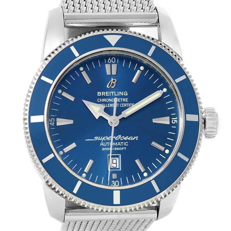 Breitling Superocean Heritage 46 Mesh Bracelet Watch A17320 SwissWatchExpo