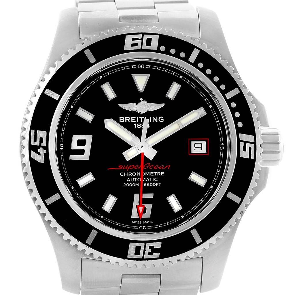 Breitling Aeromarine Superocean 44 Red Hand Watch A17391 Box SwissWatchExpo