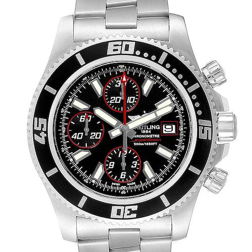 Photo of Breitling Aeromarine SuperOcean II Black Red Dial Watch A13341