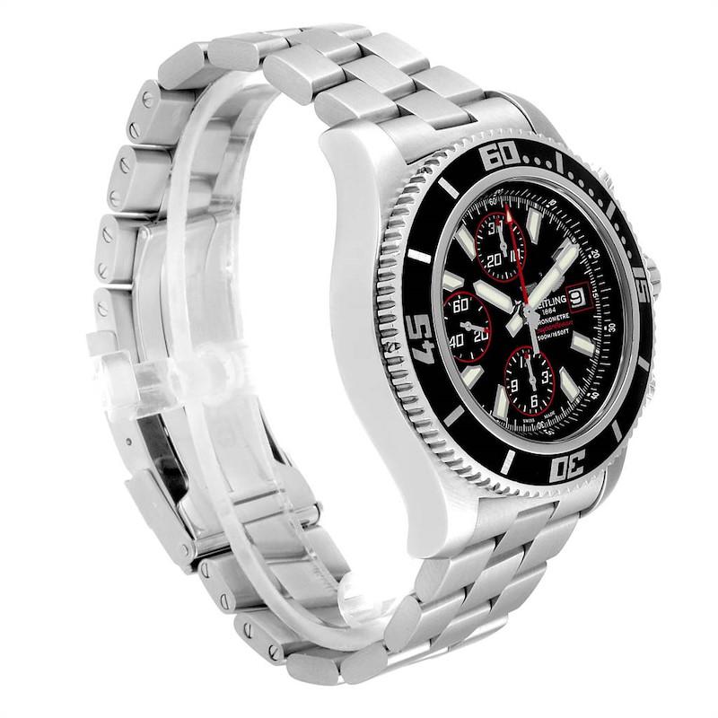 Breitling Aeromarine SuperOcean II Black Red Dial Watch A13341 SwissWatchExpo