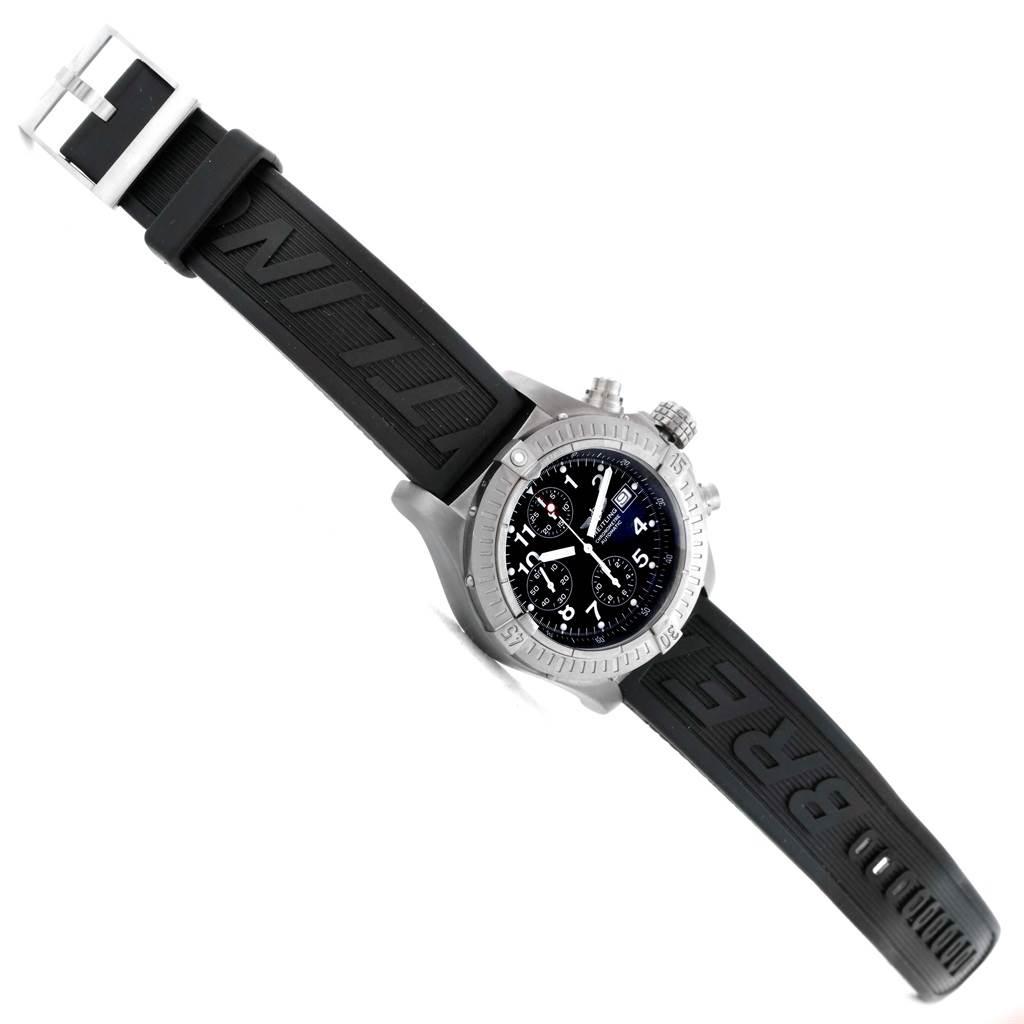 16214 Breitling Aeromarine Avenger Chronograph Titanium Watch E13360 Box SwissWatchExpo