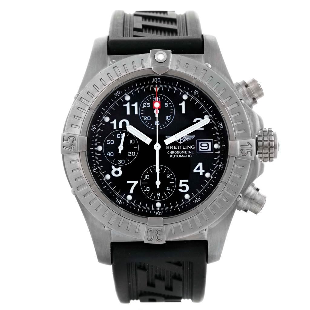 Breitling Aeromarine Avenger Chronograph Titanium Watch E13360 Box SwissWatchExpo