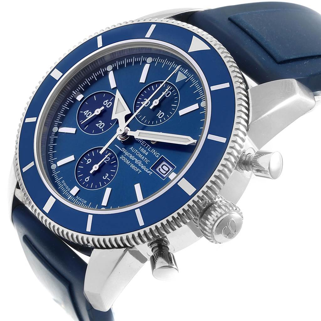 20360 Breitling SuperOcean Heritage Chrono 46 Rubber Strap Watch A13320 SwissWatchExpo