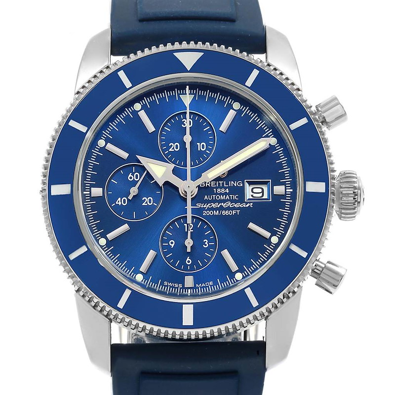 Breitling SuperOcean Heritage Chrono 46 Rubber Strap Watch A13320 Box SwissWatchExpo