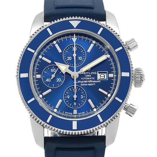 Breitling SuperOcean Heritage Chrono 46 Rubber Strap Watch A13320 Box