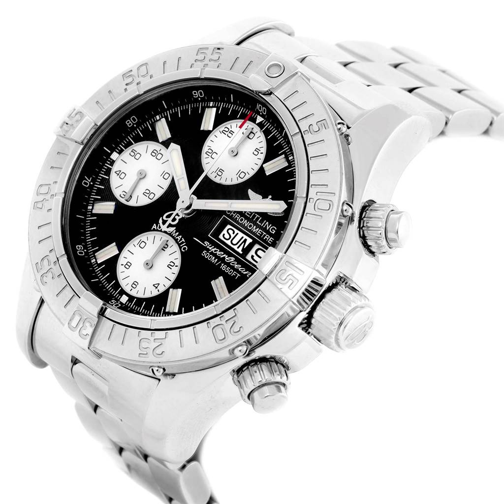 20333 Breitling Aeromarine Superocean Chronograph Watch A13340 Box Papers SwissWatchExpo