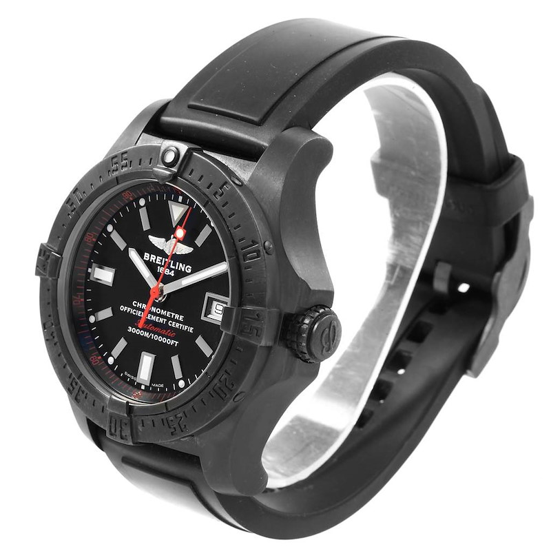 Breitling Avenger Seawolf Code Red Blacksteel Limited Watch M17330 Box Papers SwissWatchExpo