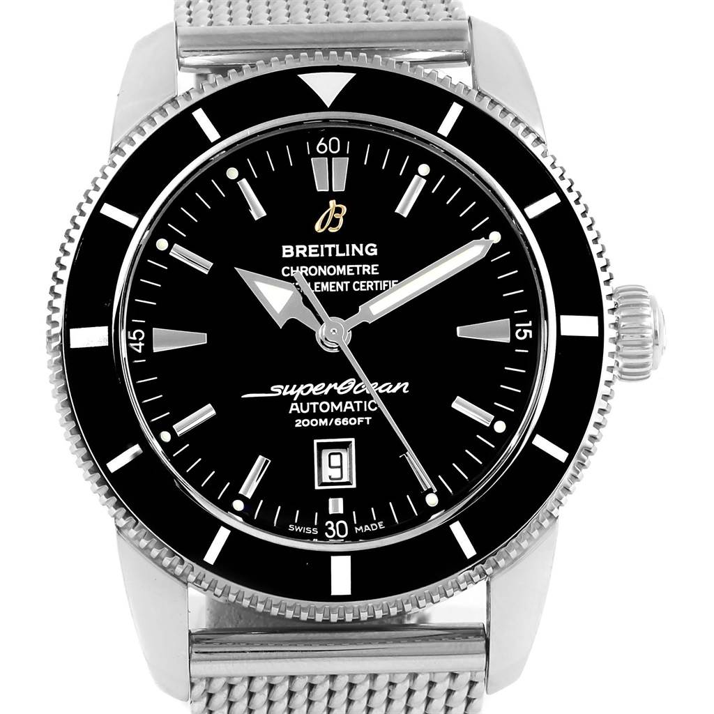 20533 Breitling Superocean Heritage 46 Black Dial Watch A17320 Box Papers SwissWatchExpo