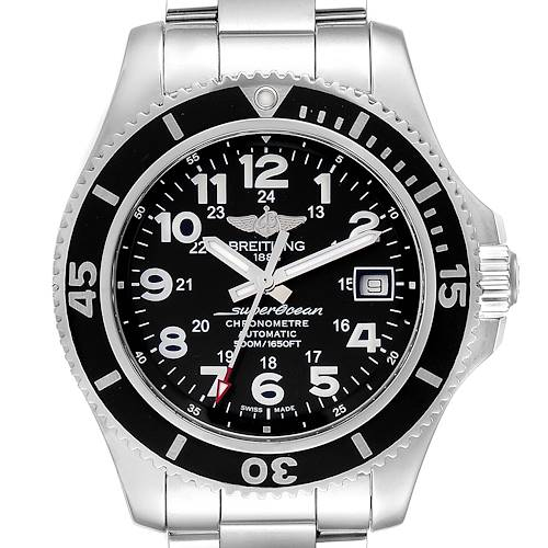 Photo of Breitling Superocean II Black Dial Steel Mens Watch A17365