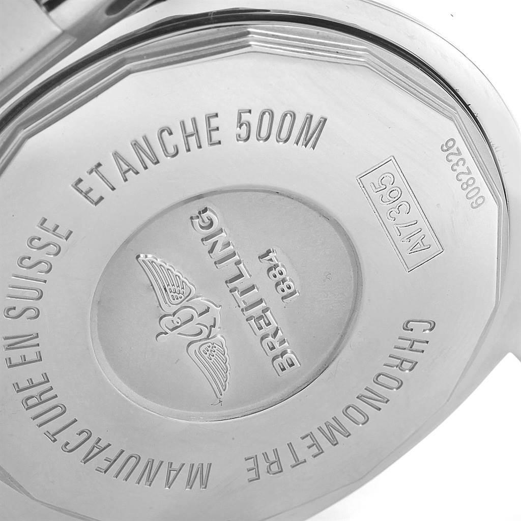 20749 Breitling Superocean II Black Dial Steel Mens Watch A17365 SwissWatchExpo