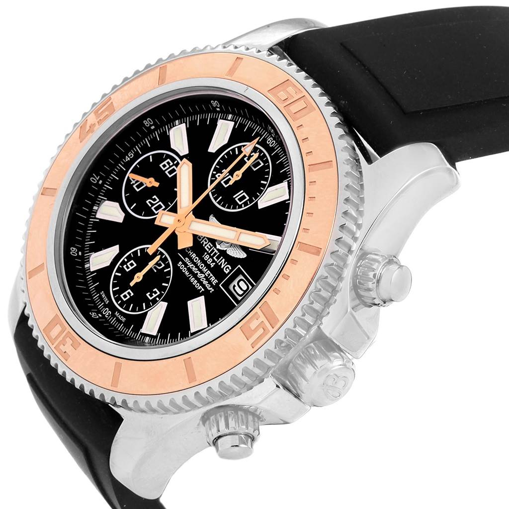 20859 Breitling Aeromarine SuperOcean II Steel Rose Gold Mens Watch C13341 SwissWatchExpo