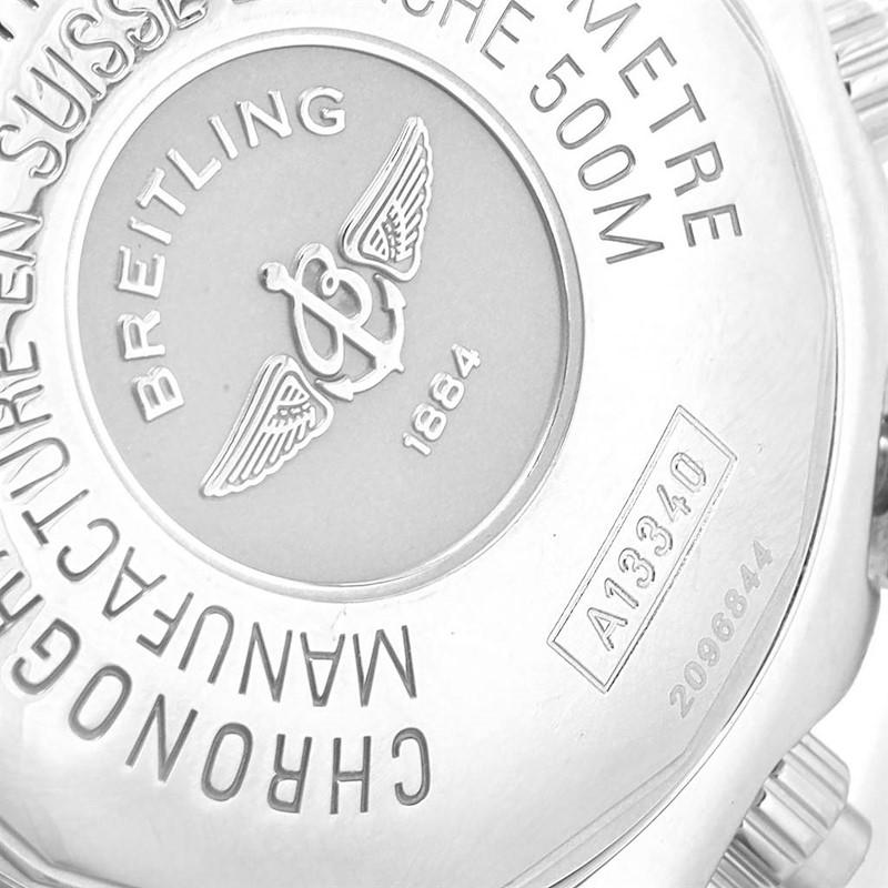 Breitling Aeromarine Superocean Blue Dial Mens Watch A13340 SwissWatchExpo