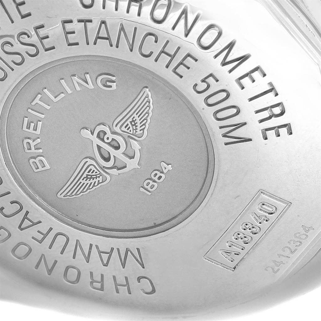 Breitling Aeromarine Superocean Black Dial Mens Watch A13340 SwissWatchExpo