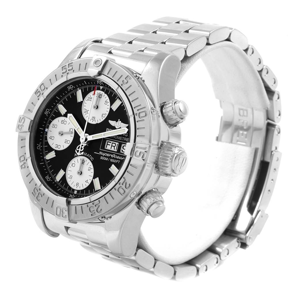 20750 Breitling Aeromarine Superocean Black Dial Mens Watch A13340 SwissWatchExpo