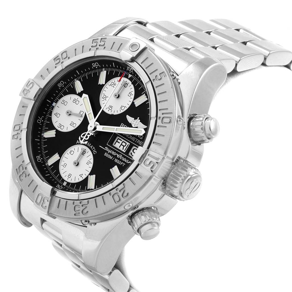 Breitling Aeromarine Superocean Chronograph Steel Mens Watch A13340 SwissWatchExpo