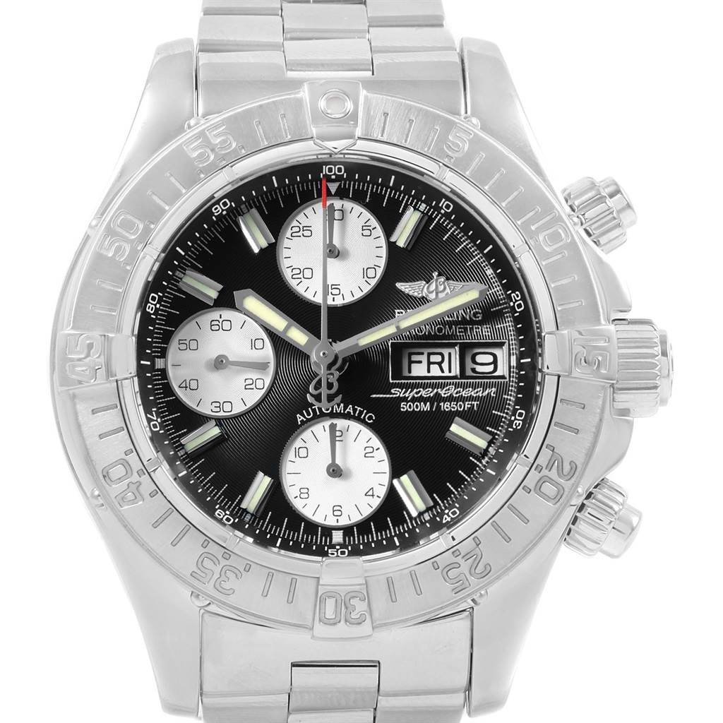 20751 Breitling Aeromarine Superocean Chronograph Steel Mens Watch A13340 SwissWatchExpo