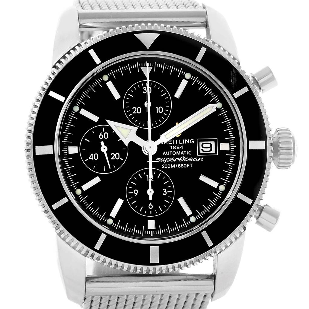 19432 Breitling SuperOcean Heritage Chrono 46 Mens Watch A13320 Box Papers SwissWatchExpo