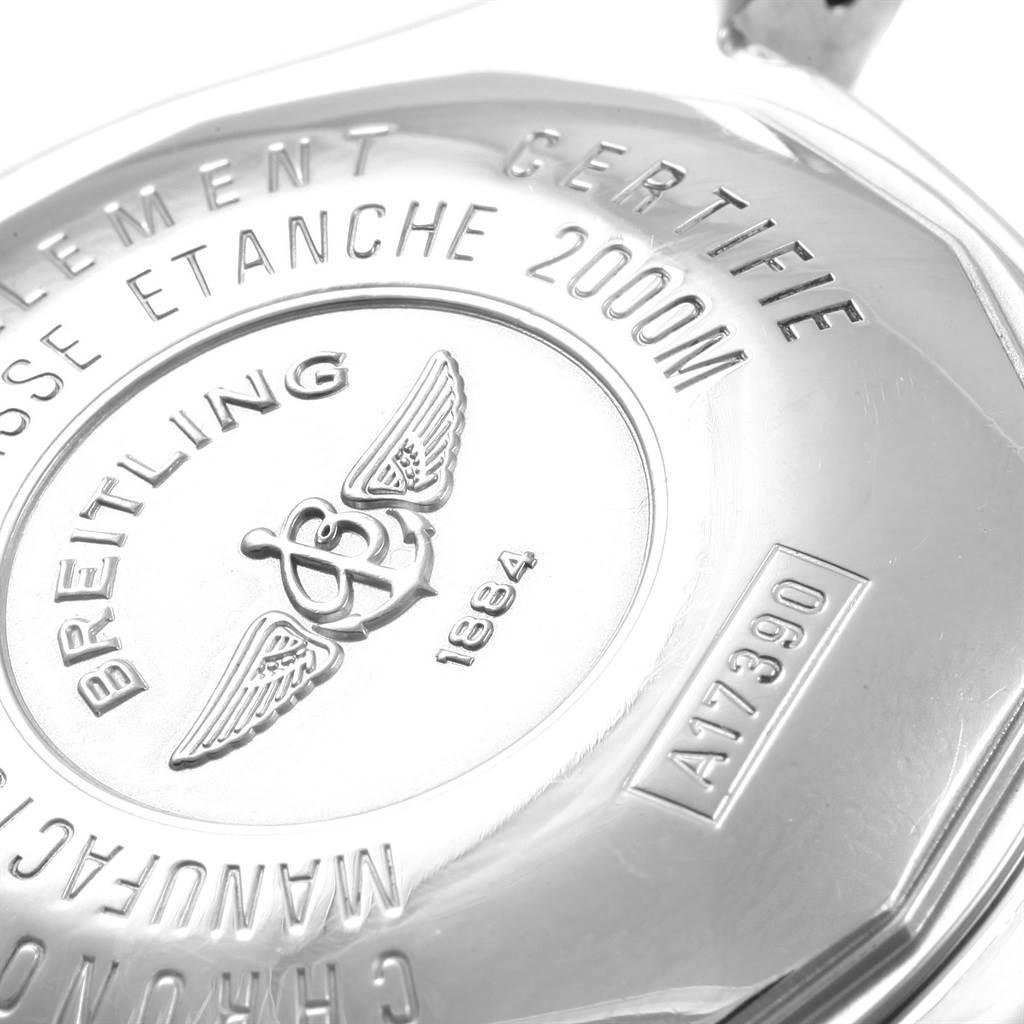 17966 Breitling Aeromarine Superocean Steelfish Black Dial Watch A17390 SwissWatchExpo