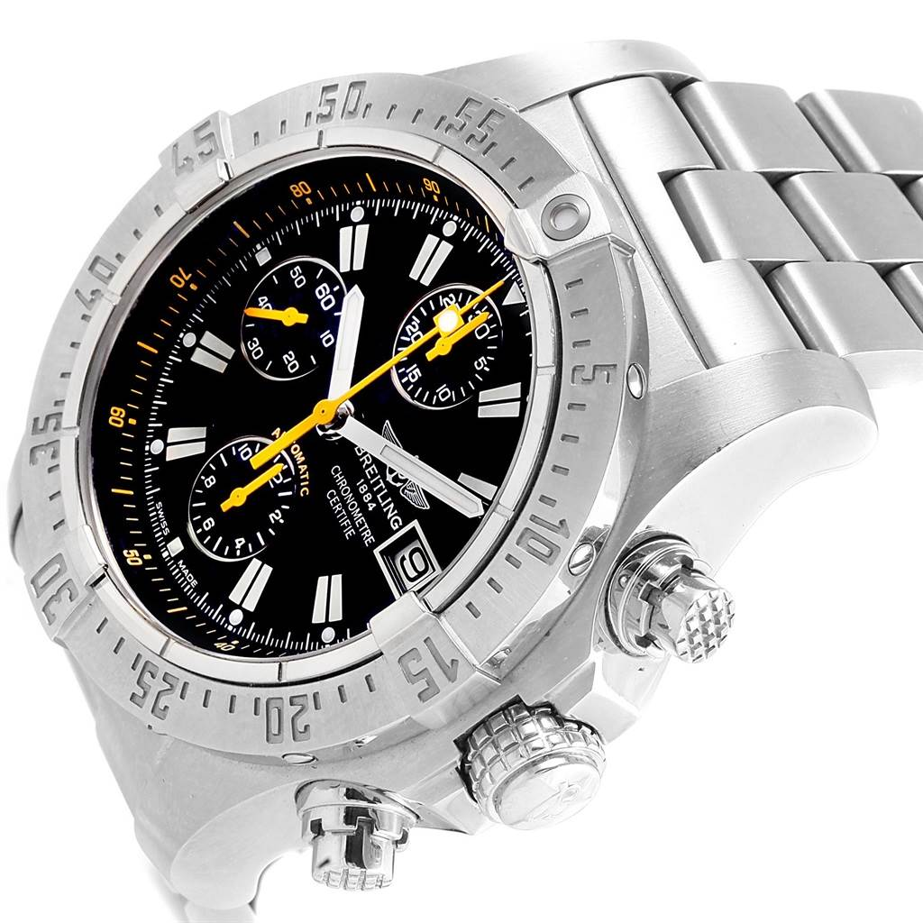 21307 Breitling Avenger Skyland Code Yellow Limited Edition Mens Watch A13380 SwissWatchExpo