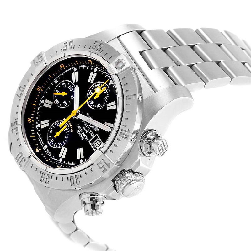 Breitling Avenger Skyland Code Yellow Limited Edition Mens Watch A13380 SwissWatchExpo