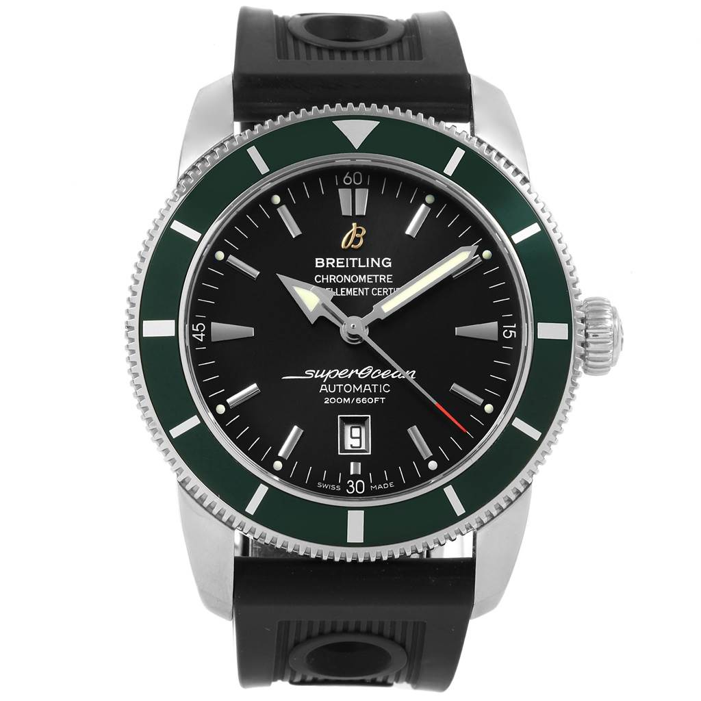 Breitling Superocean Heritage Green Bezel Limited Edition Watch A17320 SwissWatchExpo
