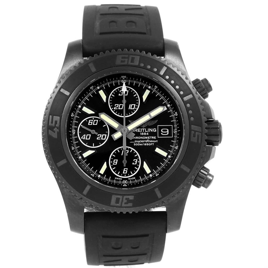 Breitling Superocean Blacksteel Limited Edition Mens Watch M18341 SwissWatchExpo