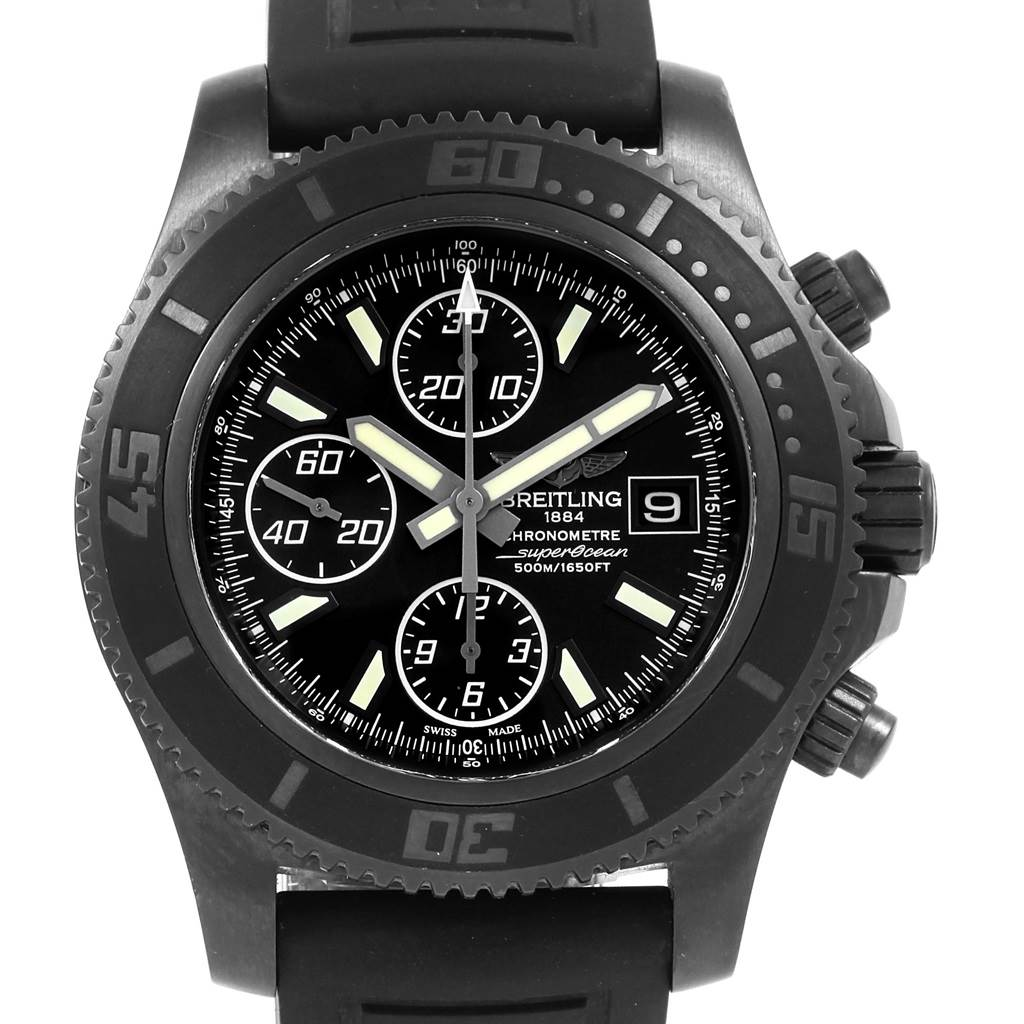 21305 Breitling Superocean Blacksteel Limited Edition Mens Watch M18341 SwissWatchExpo